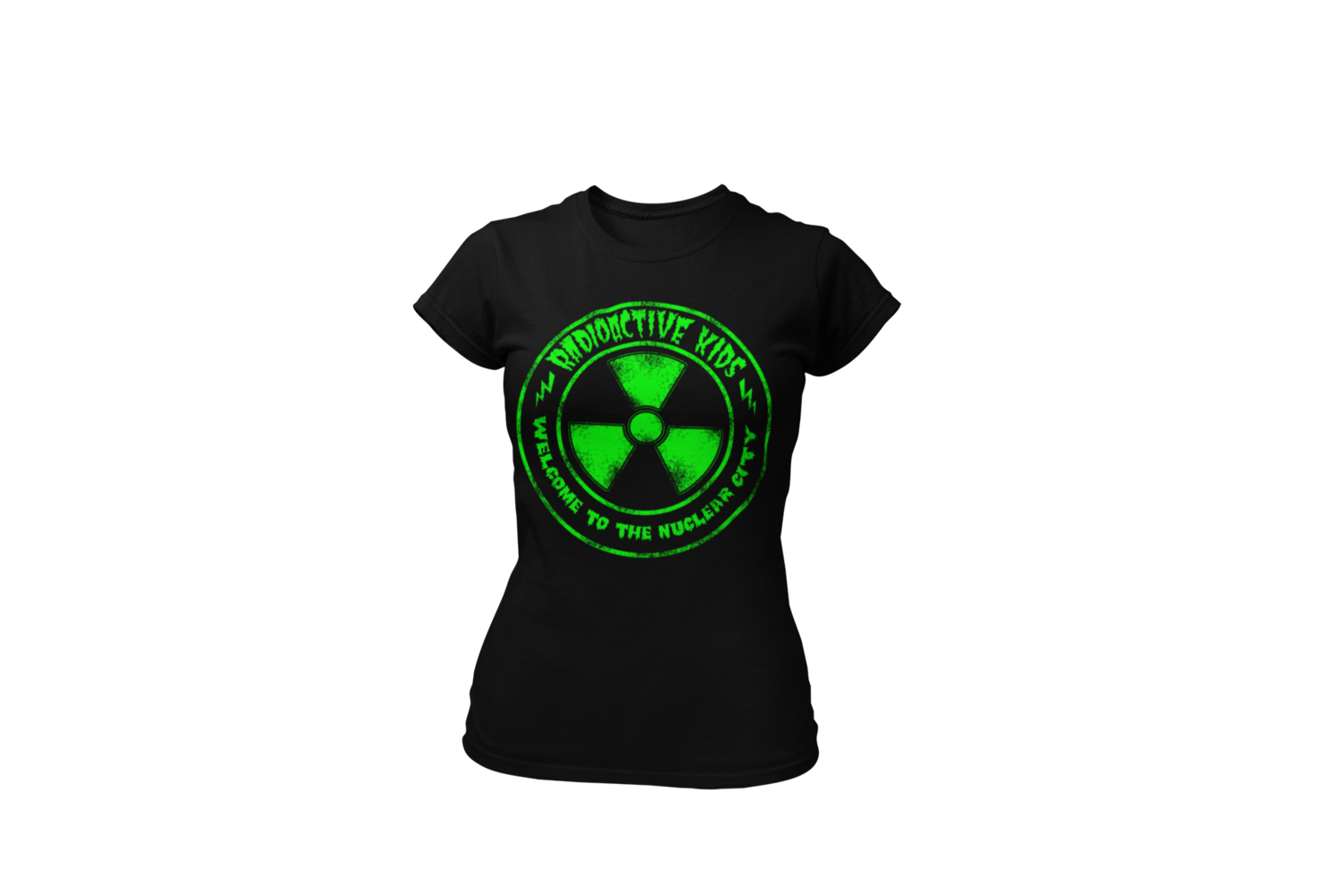 "RADIOACTIVE KIDS ""Nuclear City""  tshirt for WOMAN"