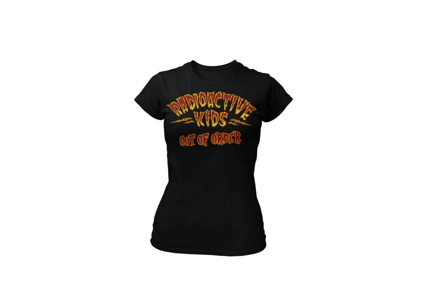 "RADIOACTIVE KIDS ""Out of order""  tshirt for WOMAN"