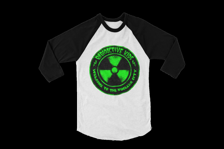 "RADIOACTIVE KIDS ""Nuclear City"" BASEBALL LONG SLEEVE  UNISEX"