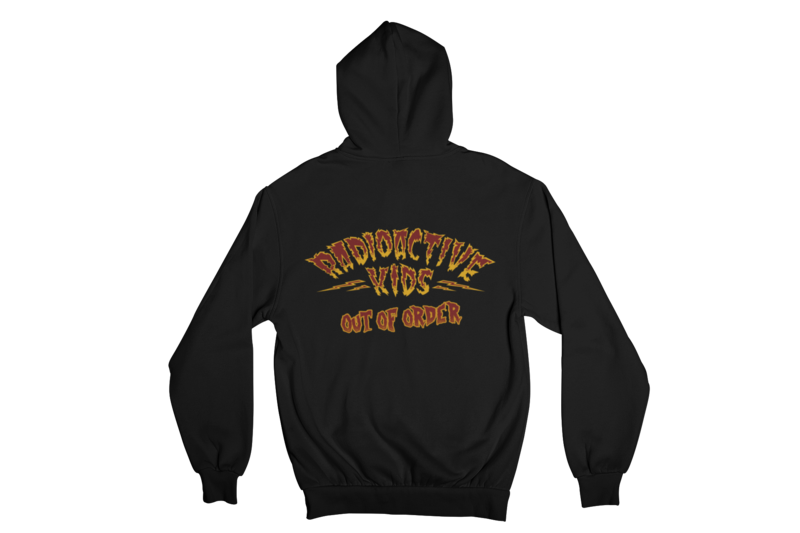 """RADIOACTIVE KIDS """"OUT OF ORDER""""  HOODIE ZIP for MEN by SOLRAC"""