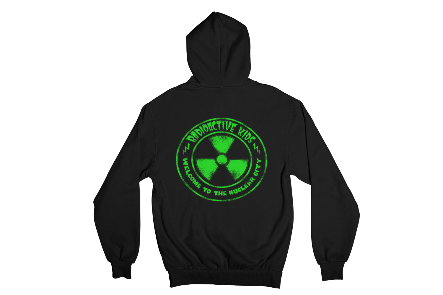 "RADIOACTIVE KIDS ""NUCLEAR CITY""  HOODIE ZIP for WOMEN"