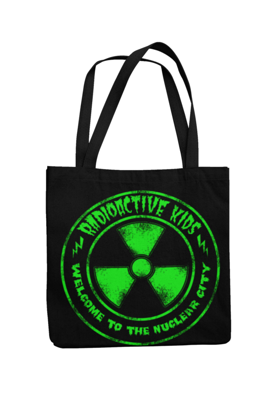 RADIOACTIVE KIDS Cotton Bag  NUCLEAR CITY