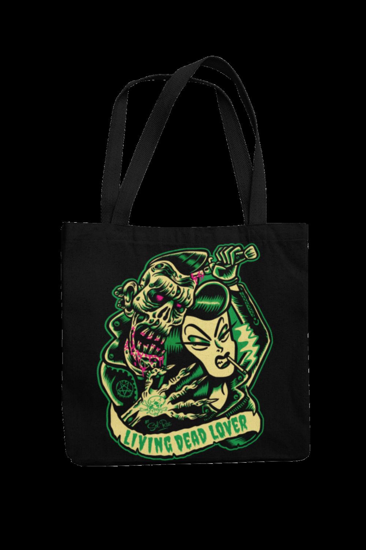 KILLER ZOMBIE GIRL Cotton Bag  logo design SOL RAC
