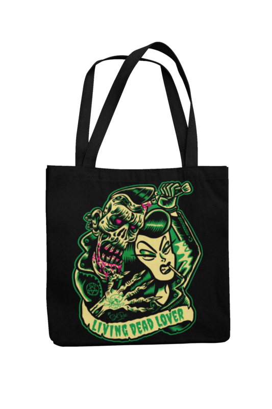 KILLER ZOMBIE GIRL Cotton Bag  logo design SOL RAC