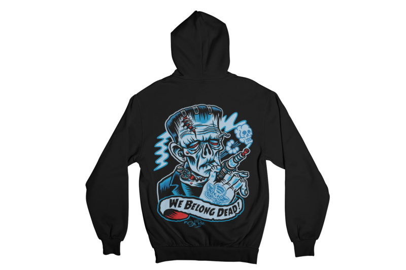 WE BELONG DEAD HOODIE ZIP for WOMEN by SOL RAC