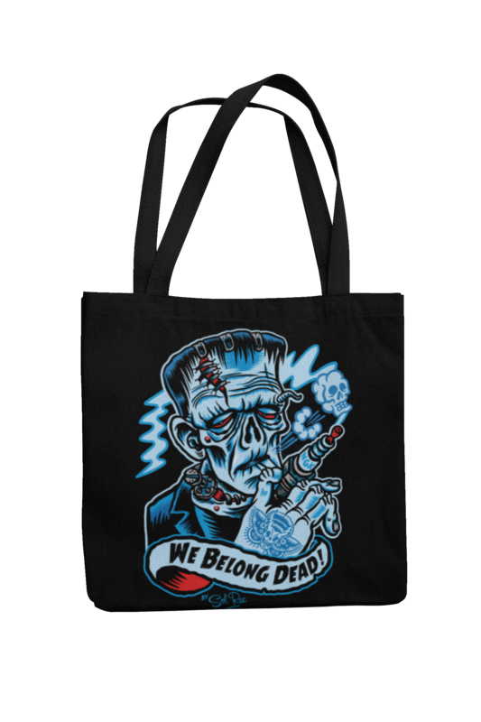 WE BELONG DEAD Cotton Bag  logo design SOL RAC