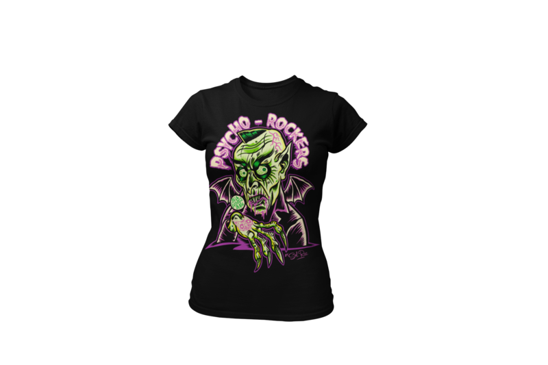PSYCHO - ROCKERS T-SHIRT WOMAN by SOL RAC