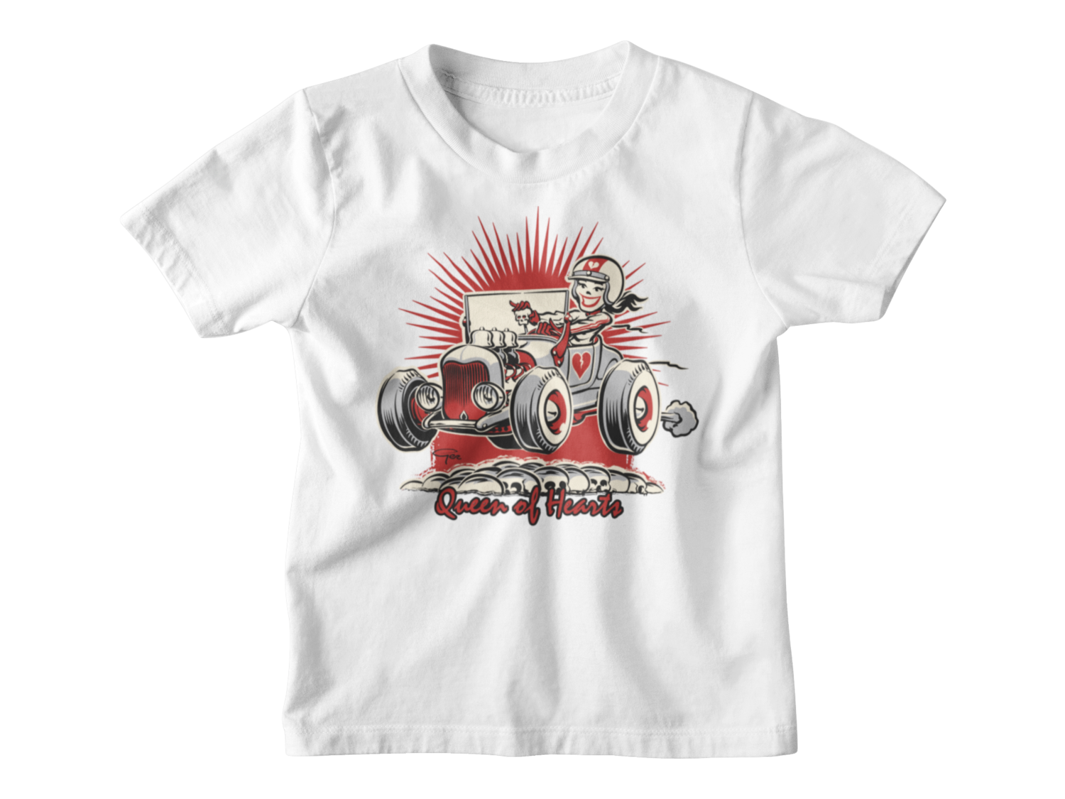 "QUEEN OF HEARTS T-SHIRT KIDS BY Ger ""Dutch Courage"" Peters"