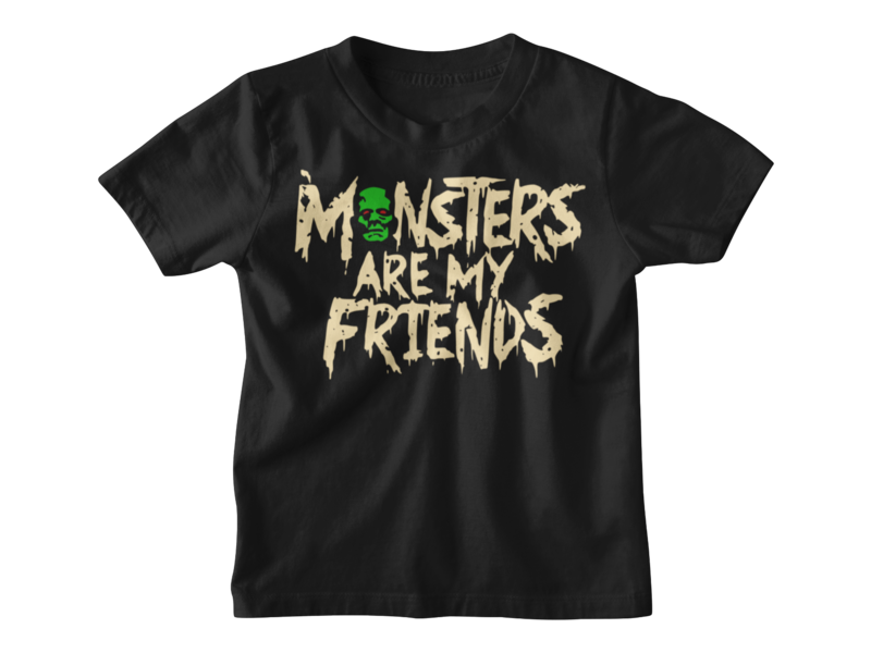 MONSTERS ARE MY FRIENDS T-SHIRT KIDS