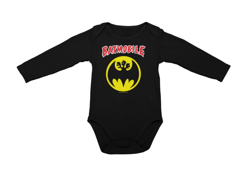 BATMOBILE LOGO BABY ONIESE
