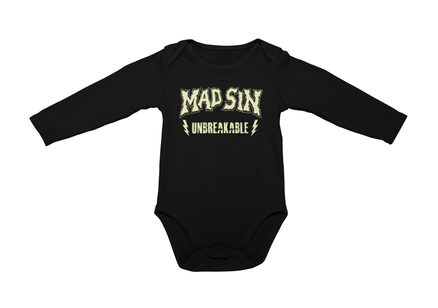MAD SIN LOGO Unbreakable BABY ONIESE
