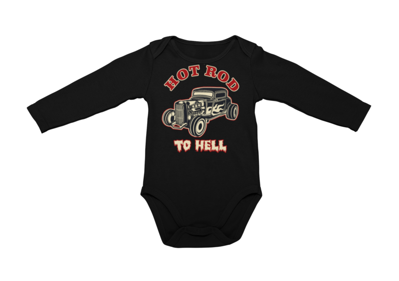 HOT ROD TO HELL BABY ONIESE
