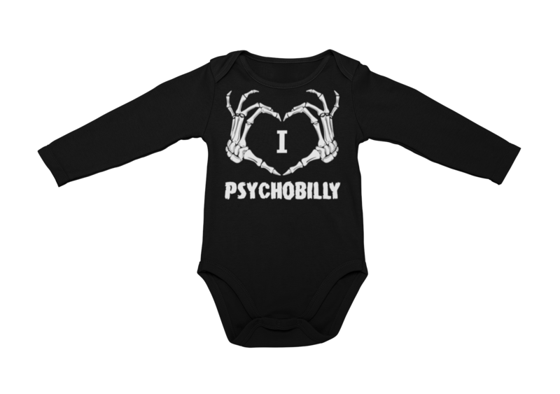 I LOVE PSYCHOBILLY BABY ONIESE