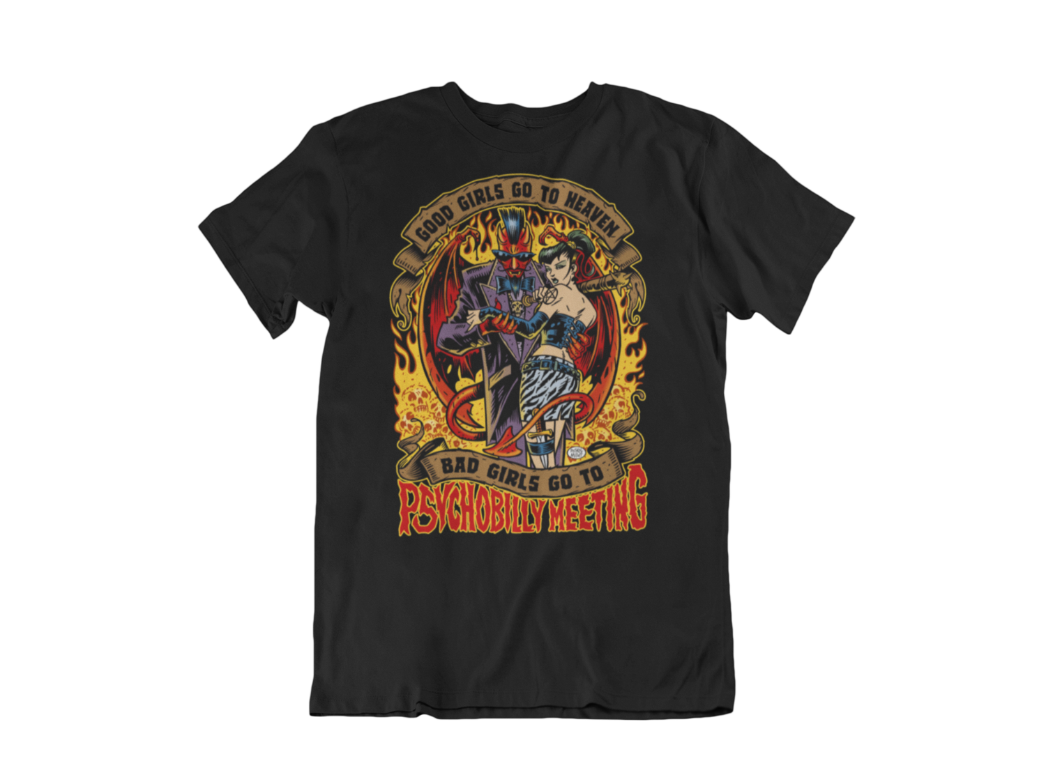 BAD GIRLS GO TO PSYCHOBILLY MEETING T-SHIRT MAN BY PASKAL