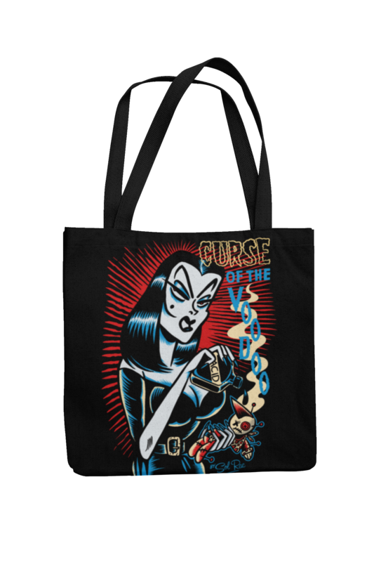 CURSE OF THE VOODOO Cotton Bag  logo design SOL RAC