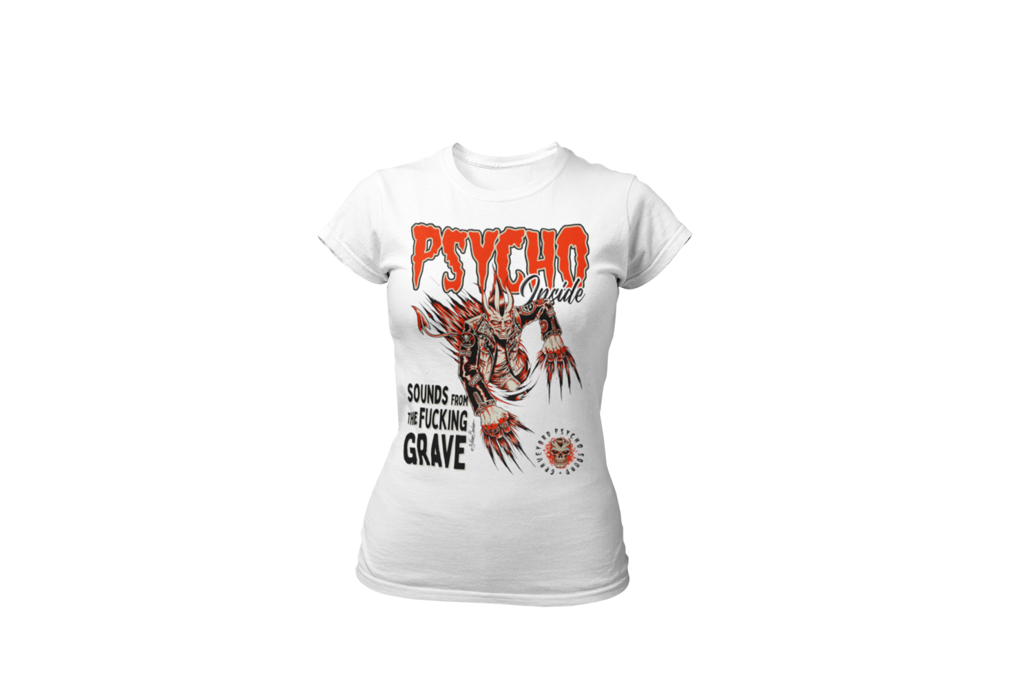 PSYCHO INSIDE T-SHIRT WOMAN BY NANO BARBERO