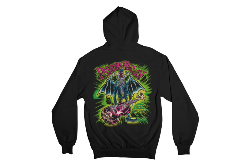 PSYCHOBILLY UNKNOWN WORLD HOODIE ZIP for MEN by SOL RAC