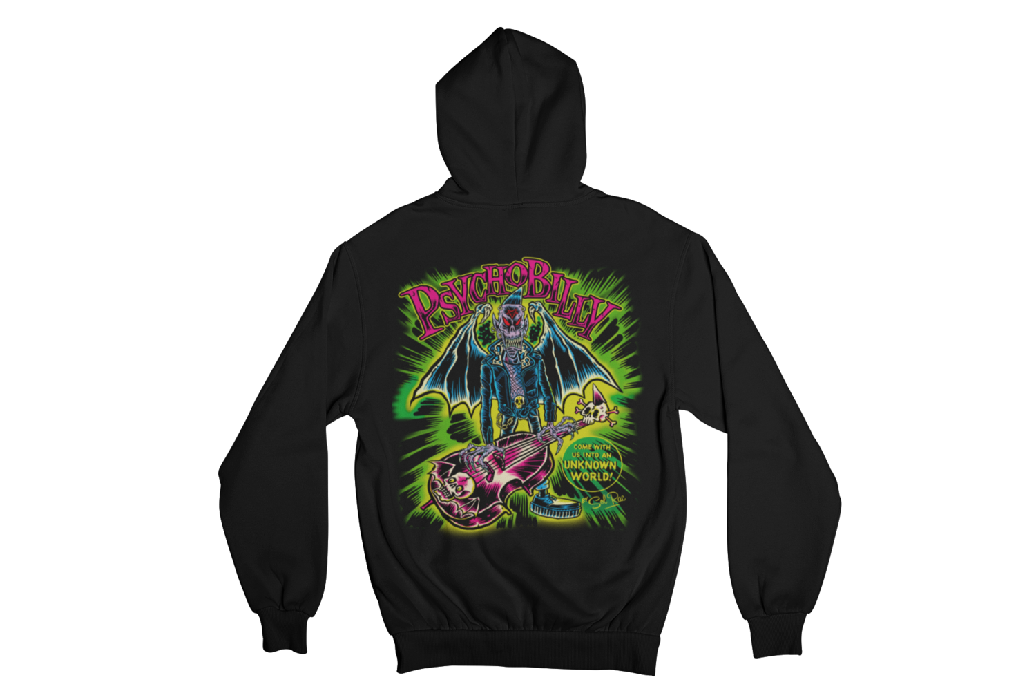 PSYCHOBILLY UNKNOWN WORLD HOODIE ZIP for WOMEN by SOL RAC