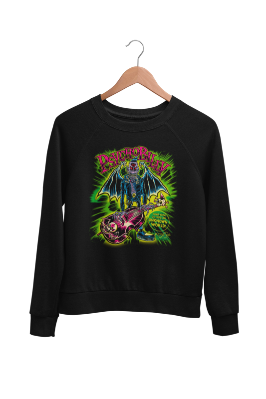 PSYCHOBILLY UNKNOWN WORLD SWEATSHIRT UNISEX BY SOL RAC