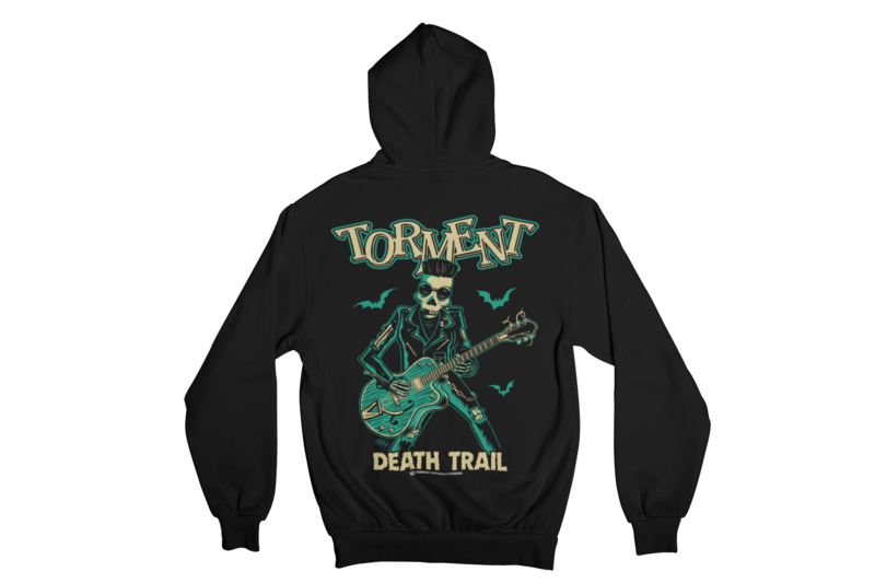 "TORMENT ""DEATH TRAIL"" HOODIE ZIP for WOMEN"