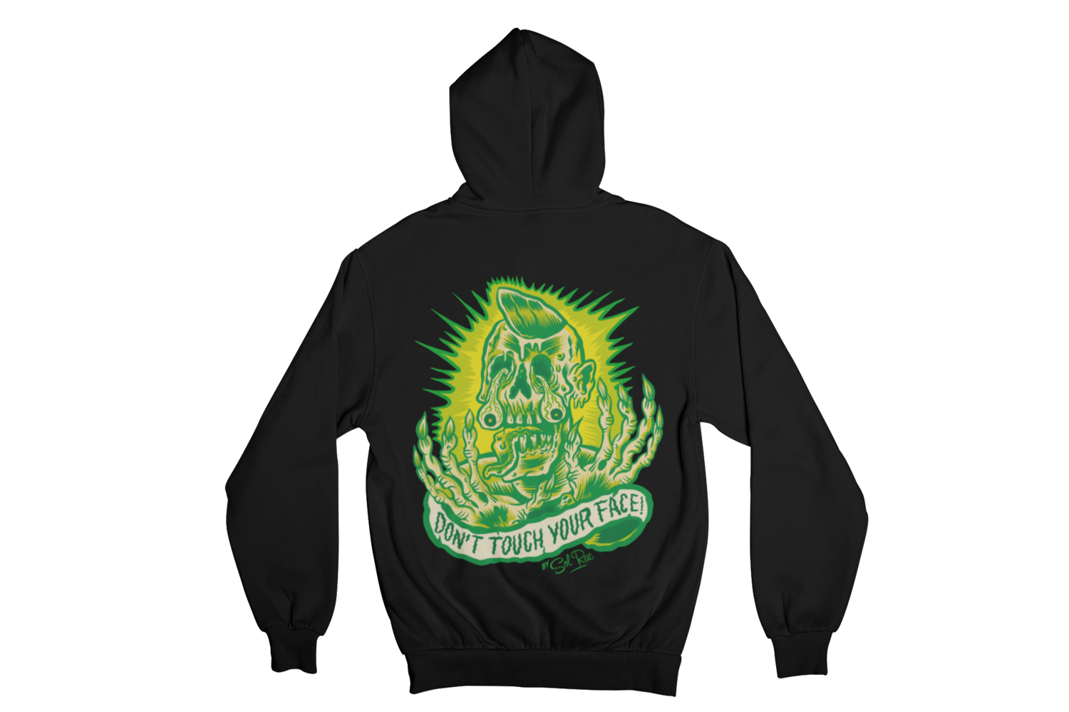 DON´T TOUCH YOUR FACE HOODIE ZIP for MEN by SOL RAC