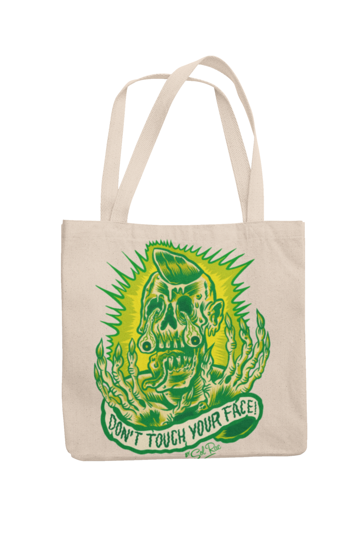 DON´T TOUCH YOUR FACE Cotton Bag  logo design SOL RAC