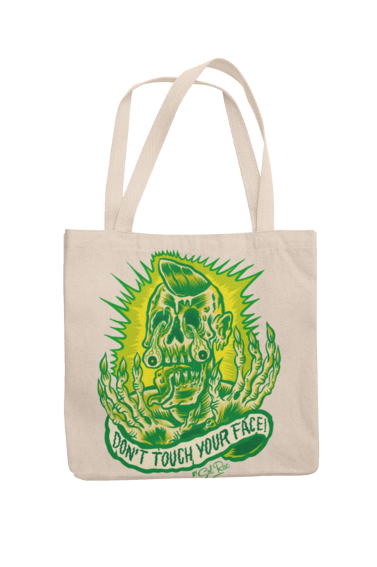 DON´T TOUCH YOUR FACE Cotton Bag  logo design SOL RAC