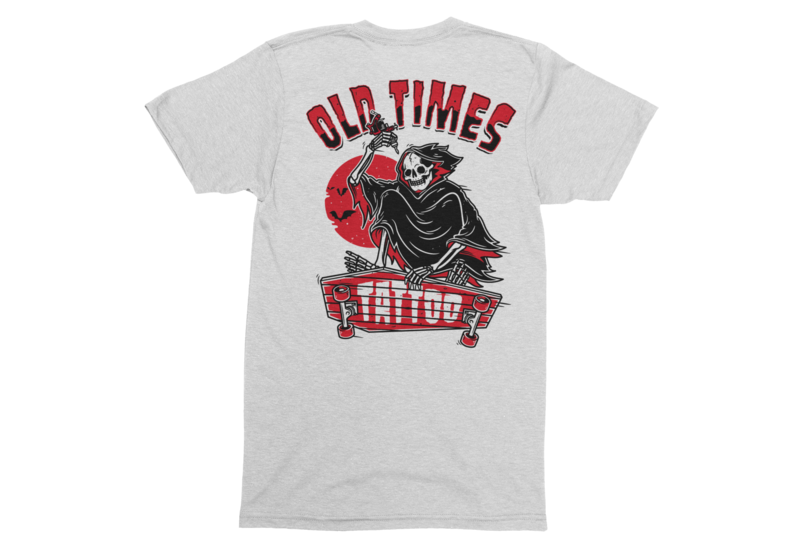 "OLD TIMES TATTOO ""Skate logo"" tshirt for MEN"