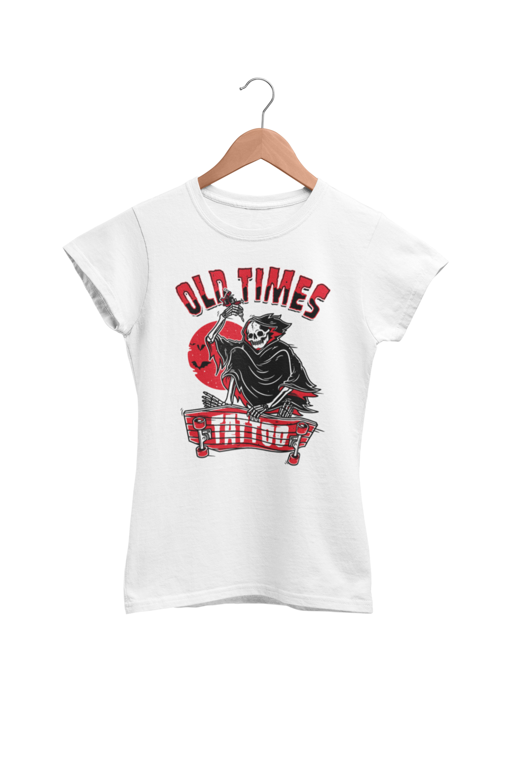 "OLD TIMES TATTOO ""Skate logo"" tshirt for WOMEN"