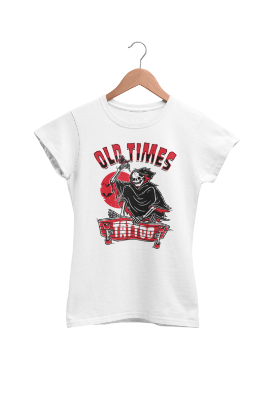 "OLD TIMES TATTOO ""Skate logo"" tshirt for WOMEN"
