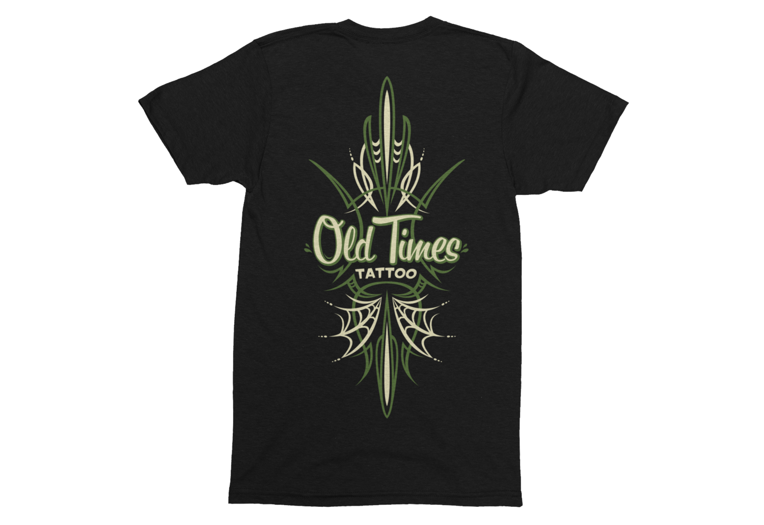 "OLD TIMES TATTOO ""Pinstriping logo"" tshirt for MEN"