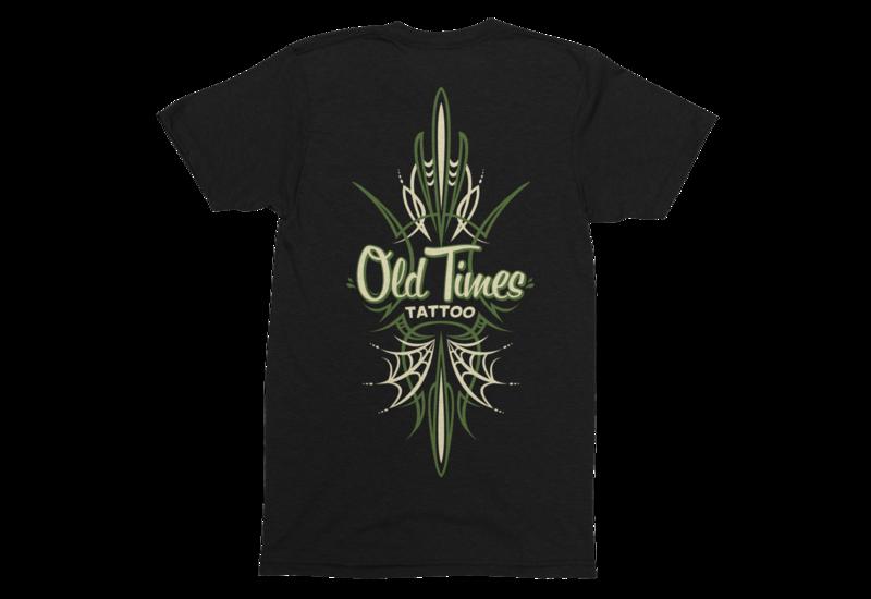 "OLD TIMES TATTOO ""Pinstriping logo"" tshirt for MEN"