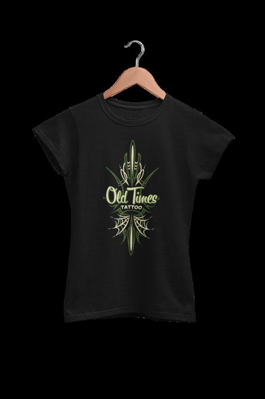 "OLD TIMES TATTOO ""Pinstriping logo"" tshirt for WOMEN"
