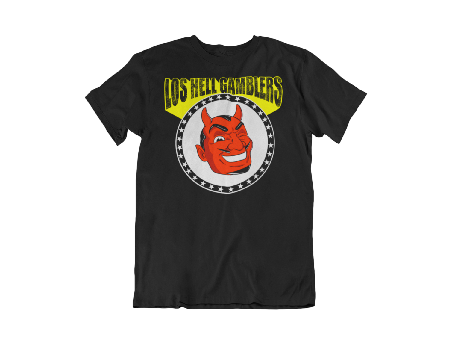 "Los HELL GAMBLERS ""Red demon logo"" T-SHIRT MEN"