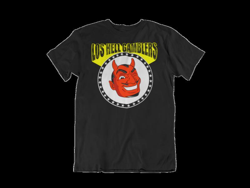 "Los HELL GAMBLERS ""Red demon logo"" T-SHIRT MEN"