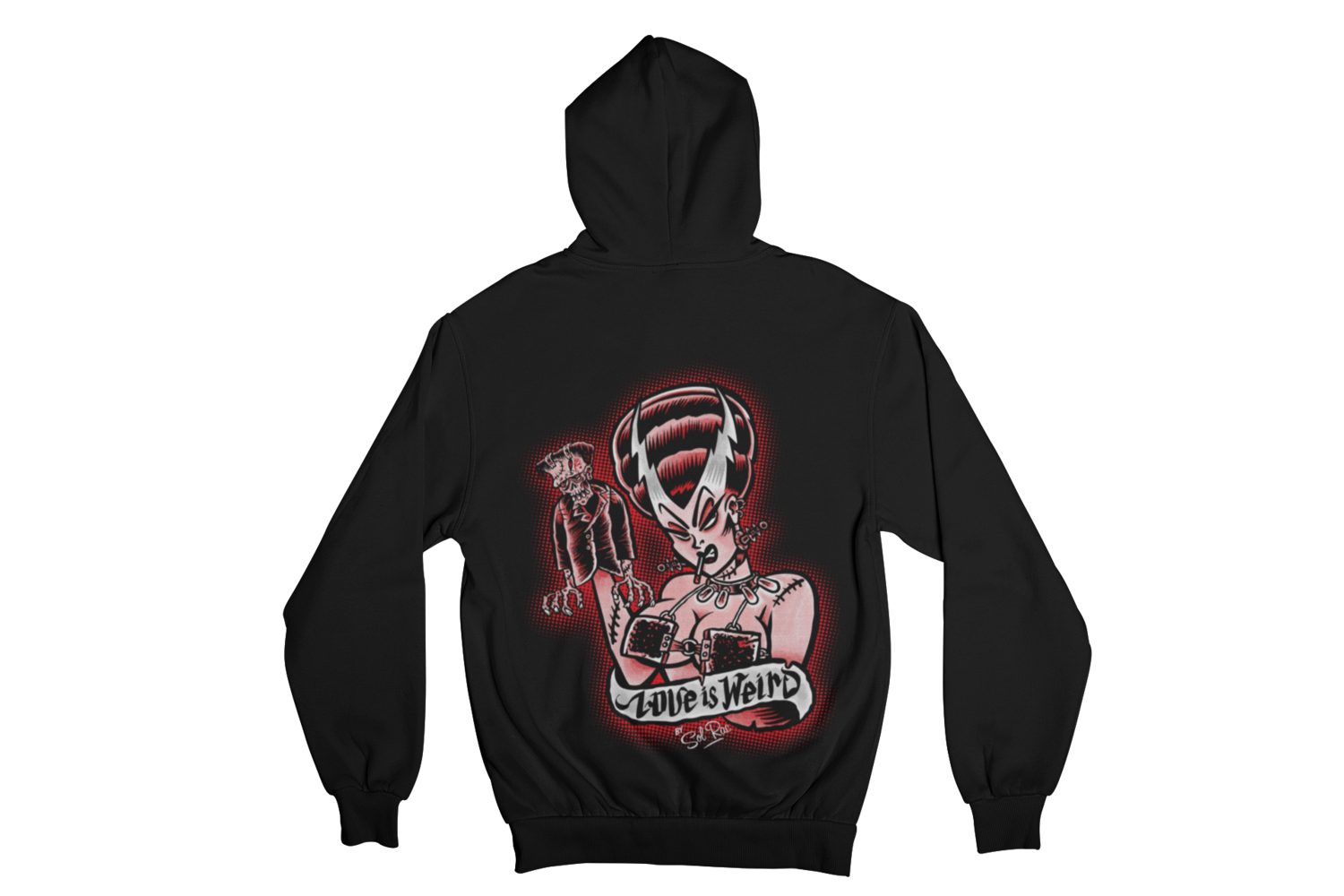 LOVE IS WEIRD HOODIE ZIP for WOMEN by SOL RAC