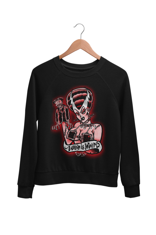 LOVE IS WEIRD SWEATSHIRT UNISEX by BY SOL RAC