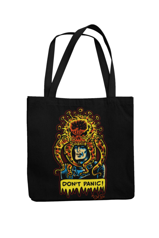 DON´T PANIC Cotton Bag  logo design SOL RAC