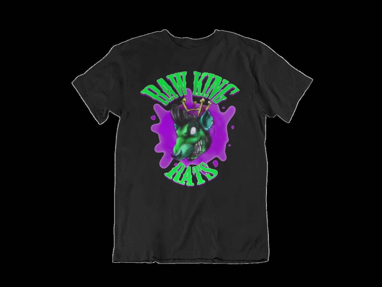 "RAW KING RAT ""Green rat logo"" T-SHIRT MEN"