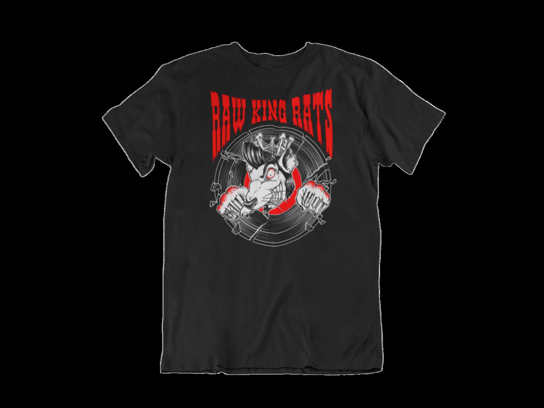 """RAW KING RAT """"Red rat logo"""" T-SHIRT MEN"""