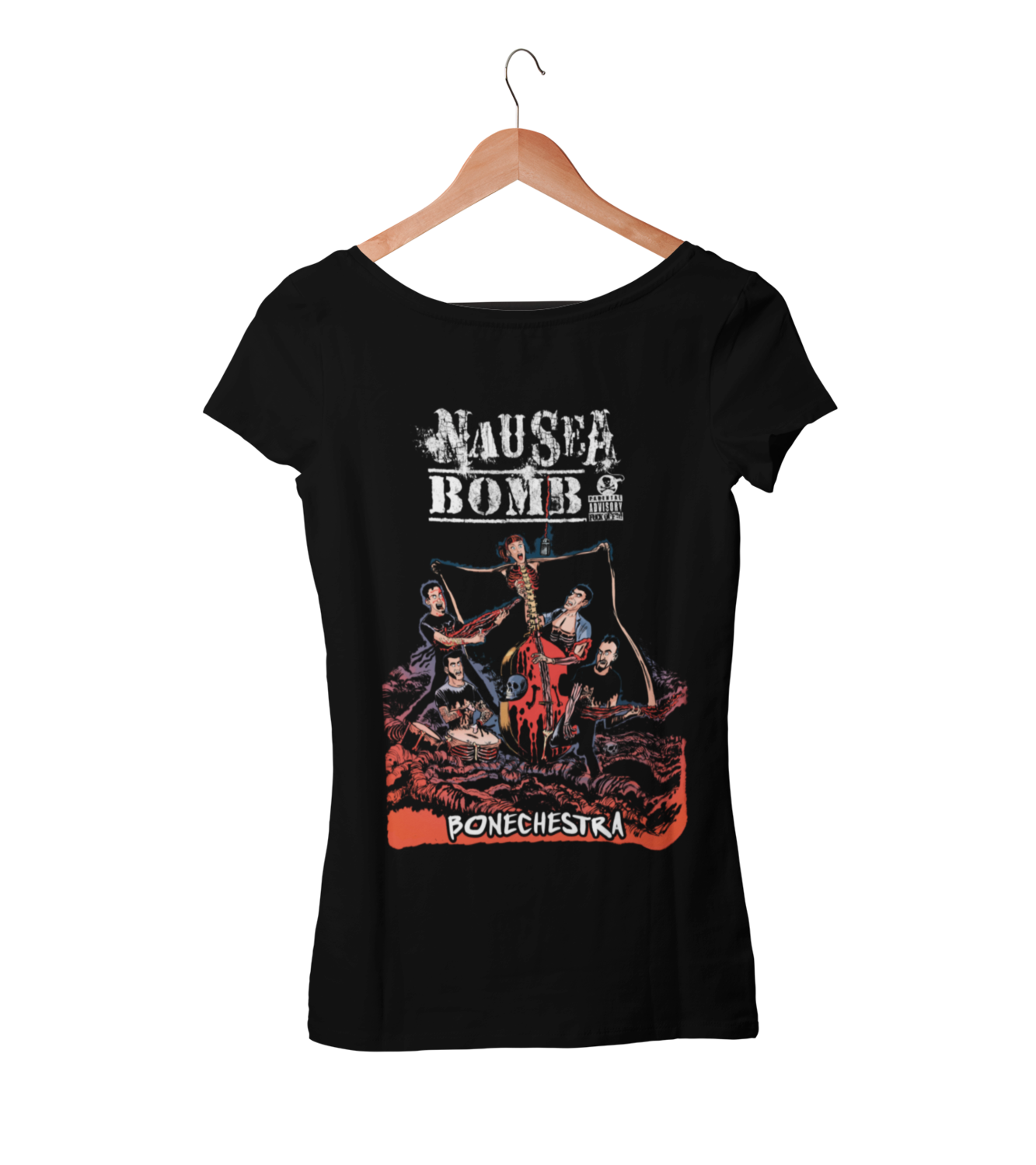 "NAUSEA BOMB ""Bonechestra"" tshirt for WOMEN"