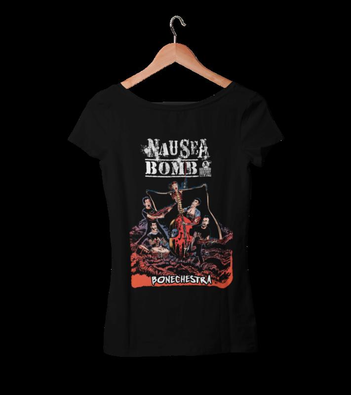 "NAUSEA BOMB ""Bonechestra"" tshirt for WOMEN"