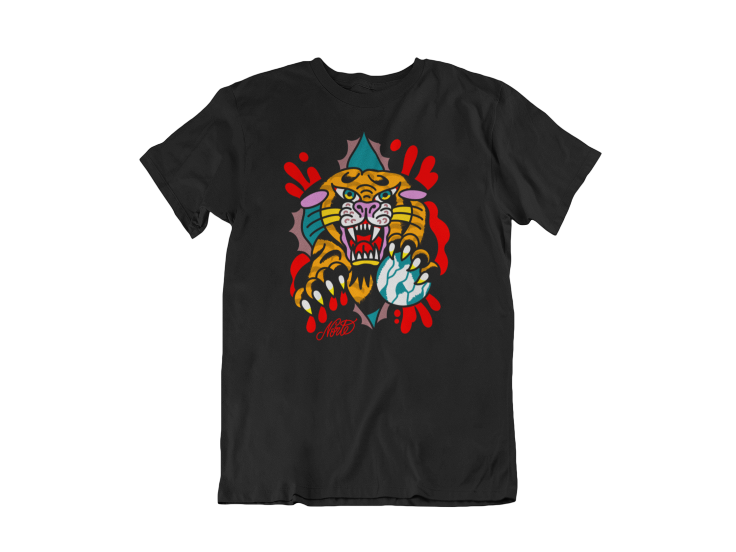 "NORTEONE TATTOO ""Tiger"" tshirt for MEN"