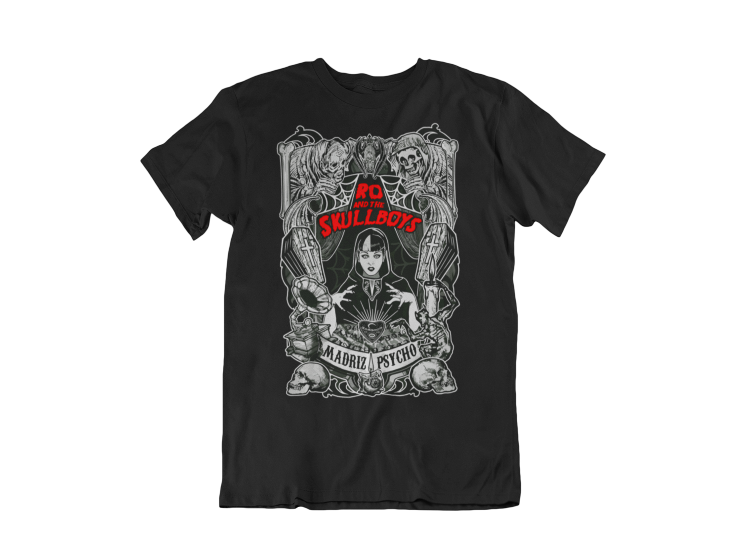 "RO & THE SKULLBOYS ""Madriz Psycho"" T-SHIRT MEN"