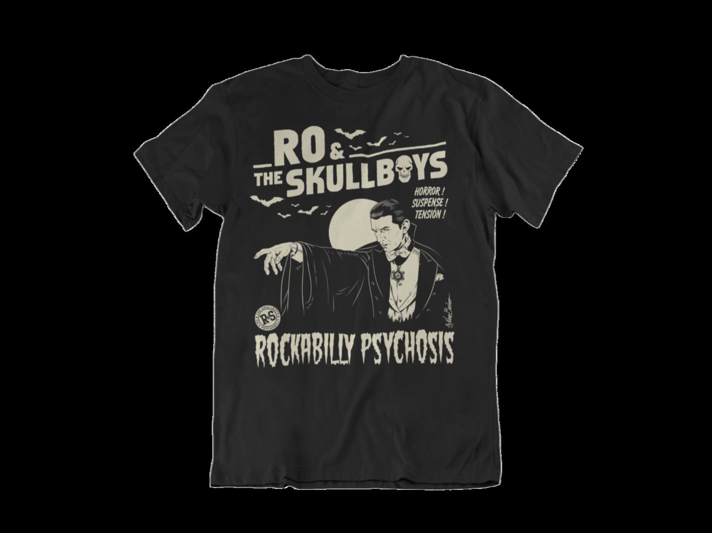 """RO & THE SKULLBOYS """"Rockabilly Psychosis"""" T-SHIRT MEN"""