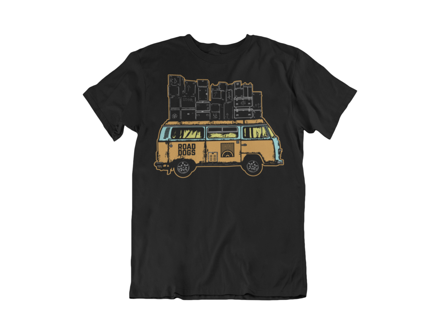"ROAD DOGS ""Van color logo"" tshirt for MEN"