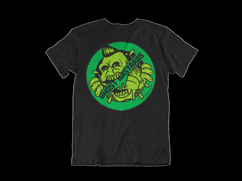 """GHOST BASTARDS """"Round Logo"""" tshirt for MEN"""