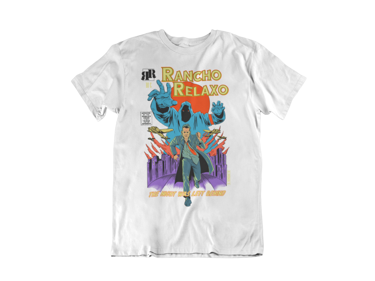 """RANCHO RELAXO """"Night was left behind"""" tshirt for MEN"""
