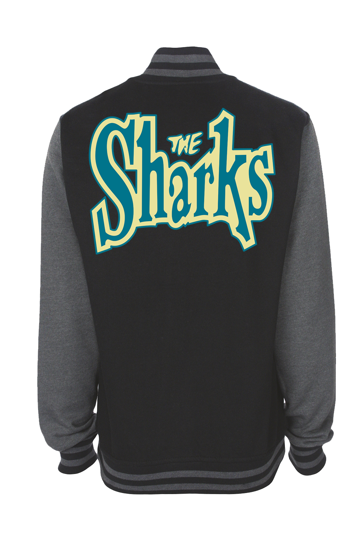 """THE SHARKS """"Logo"""" VARSITY JACKET UNISEX"""