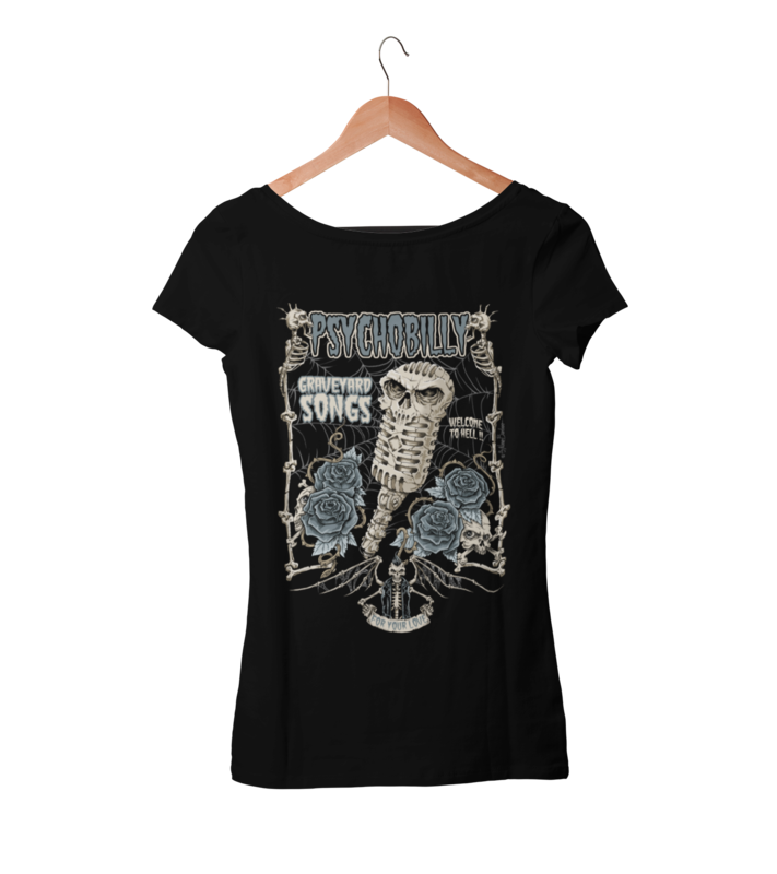 GRAVEYARD SONGS T-SHIRT WOMAN by NANO BARBERO